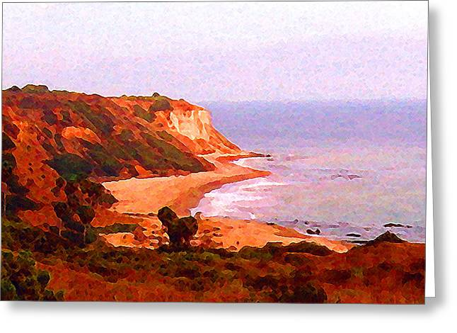 Greeting Card featuring the digital art The Peninsula by Timothy Bulone