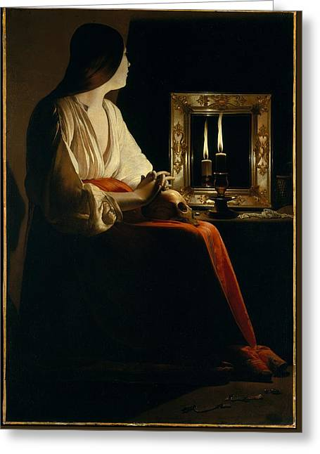 The Penitent Magdalen Greeting Card by MotionAge Designs