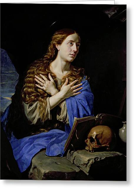 The Penitent Magdalene Greeting Card by Philippe de Champaigne