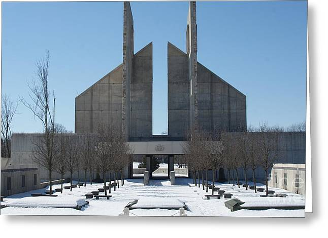 The Pennsylvania Veterans Memorial Building At Indiantown Gap...   # Greeting Card by Rob Luzier