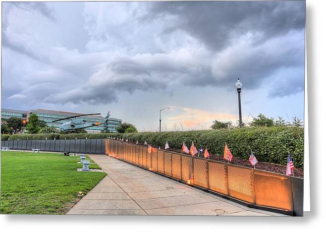 The Pensacola Vietnam Wall Greeting Card by JC Findley