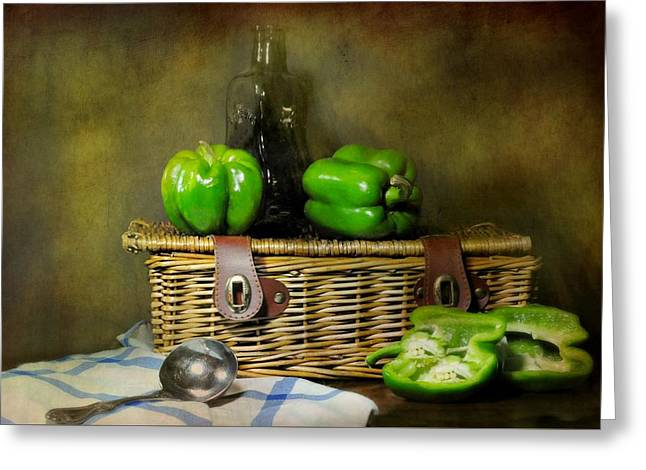 The Pepper Basket Greeting Card by Diana Angstadt