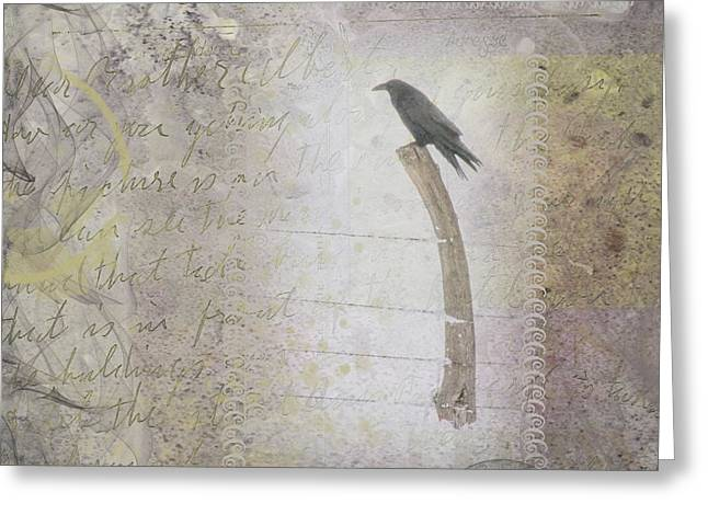 The Perch Greeting Card by Nadine Berg
