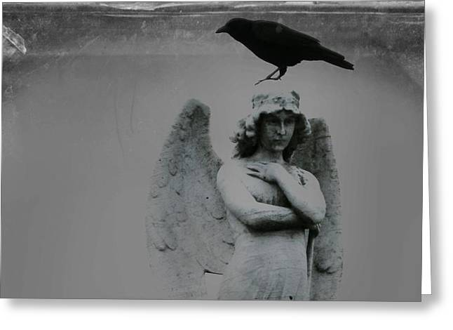 The Perch Of An Angel Greeting Card