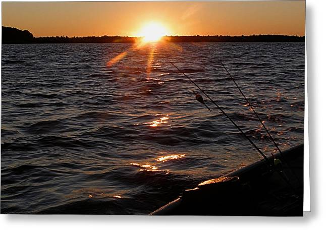 Greeting Card featuring the photograph The Perfect Ending - After A Good Day Of Fishing by Angie Rea