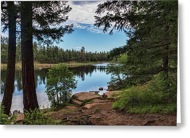 Greeting Card featuring the photograph The Perfect Fishing Spot  by Saija Lehtonen
