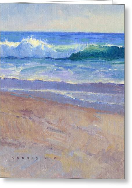 Greeting Card featuring the painting The Healing Pacific by Konnie Kim