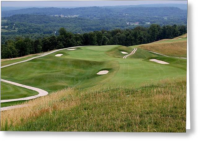 The Pete Dye Course At French Lick Resort Greeting Card by Ann and John Cinnamon