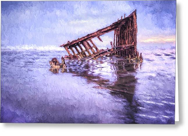 A Stormy Peter Iredale Greeting Card