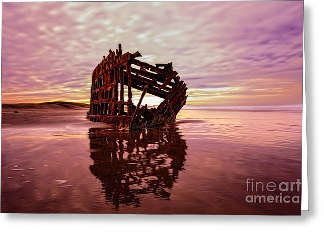 The Peter Iredale 2 Greeting Card by Kay Brewer
