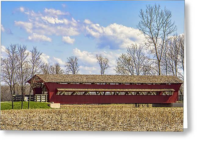 The Petersburg Covered Bridge Greeting Card by William Sturgell