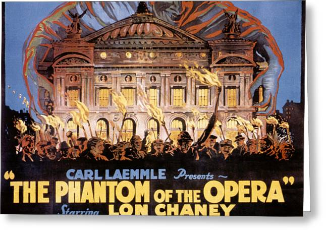 The Phantom Of The Opera Greeting Card by Granger
