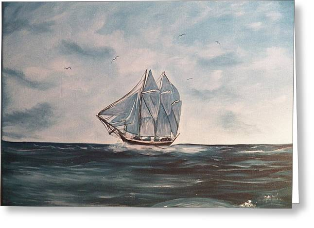 The Phantom Of The Sea Greeting Card by Laurie Kidd