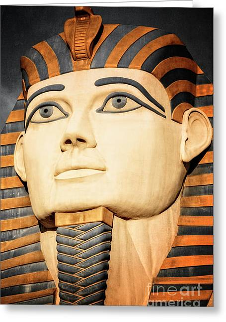 The Pharaoh Of Egypt Greeting Card by Charles Dobbs