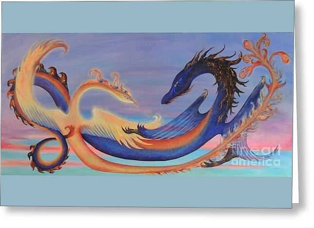 The Pheonix And The Dragon Greeting Card