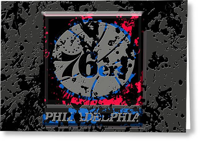 The Philadelphia 76ers 1a Greeting Card by Brian Reaves