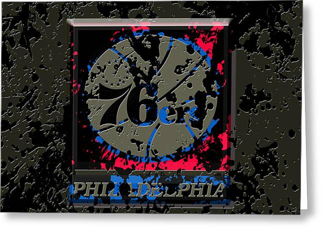 The Philadelphia 76ers 1b Greeting Card by Brian Reaves
