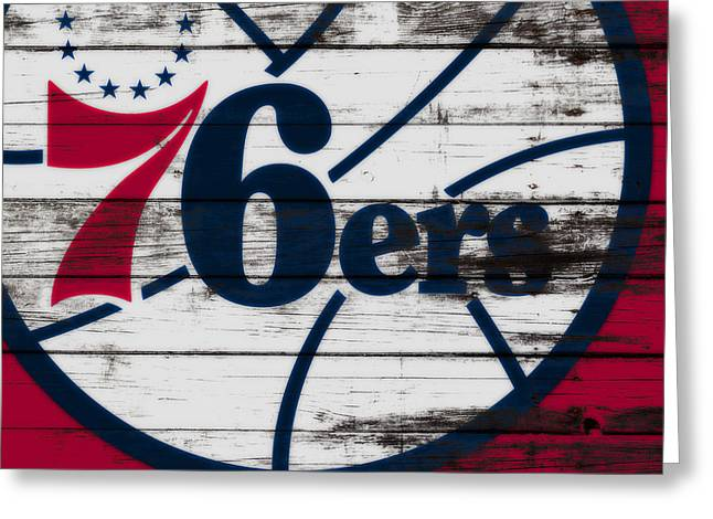 The Philadelphia 76ers 3a        Greeting Card by Brian Reaves