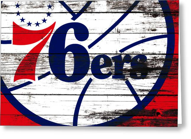 The Philadelphia 76ers 3e       Greeting Card by Brian Reaves