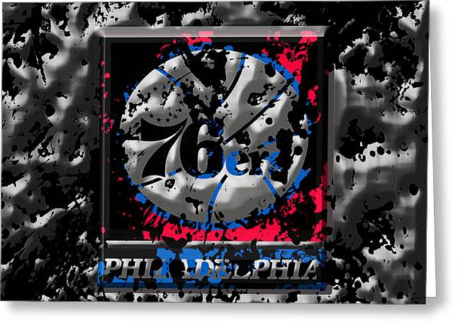 The Philadelphia 76ers Greeting Card by Brian Reaves