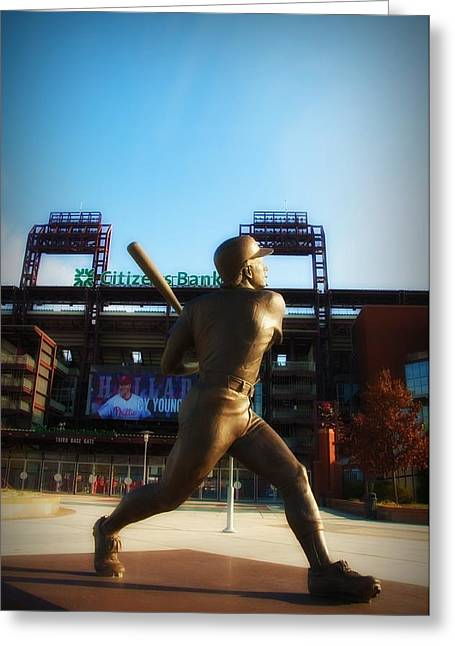 The Phillies - Mike Schmidt Greeting Card by Bill Cannon