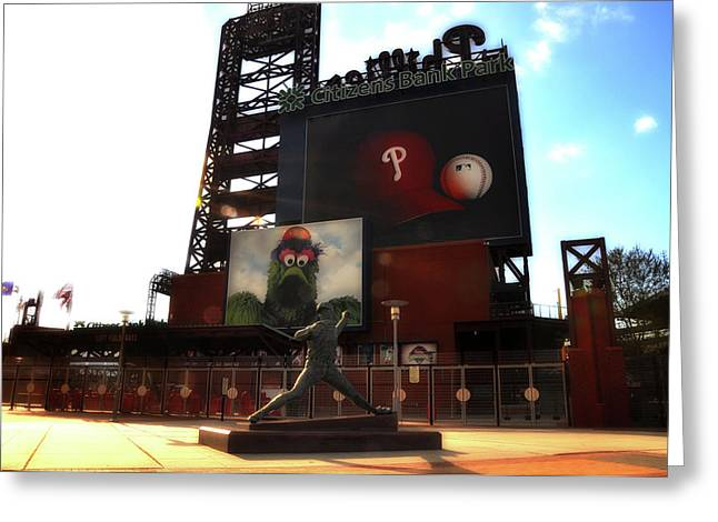 Philadelphia Phillies Stadium Digital Greeting Cards - The Phillies - Steve Carlton Greeting Card by Bill Cannon