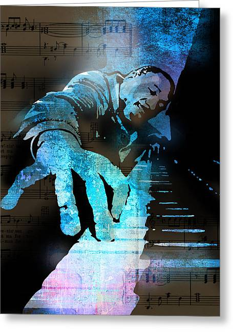 The Piano Man Greeting Card by Paul Sachtleben