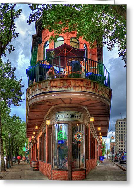 Greeting Card featuring the photograph The Pickle Barrel Chattanooga Tn Art by Reid Callaway