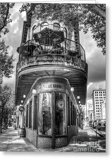 The Pickle Barrel Too B W  Chattanooga, Tennessee Art Greeting Card