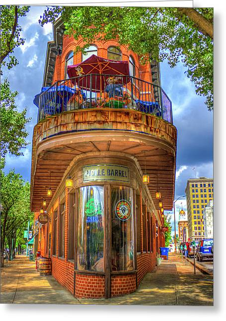 The Pickle Barrel Too Chattanooga Tennessee Art Greeting Card