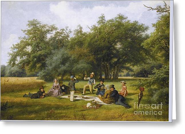 The Picnic Greeting Card by Celestial Images