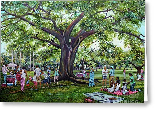 The Picnic In Hope Gardens Greeting Card
