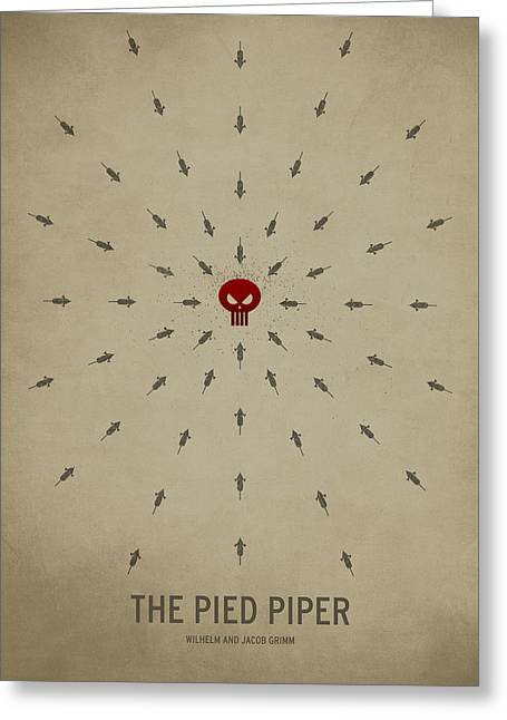 The Pied Piper Greeting Card by Christian Jackson