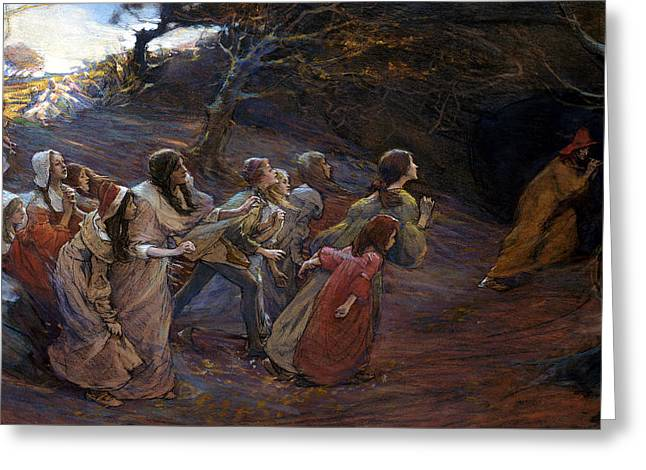 The Pied Piper Of Hamelin Greeting Card by Elizabeth Adela Stanhope Forbes