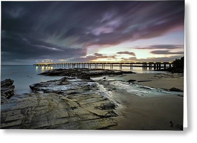 The Pier @ Lorne Greeting Card by Mark Lucey