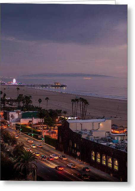 The Pier After Dark - 1 Greeting Card