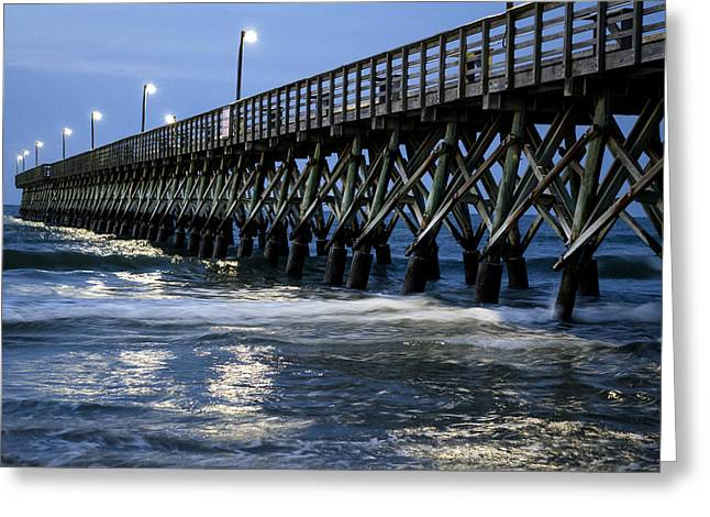The Pier At The Break Of Dawn Greeting Card