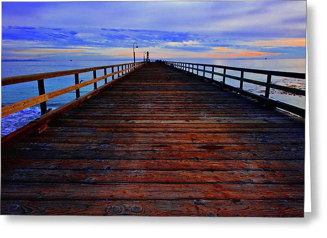 The Pier Greeting Card by Gina Cordova