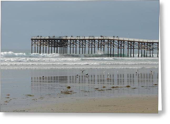 The Pier Greeting Card by John Wilson