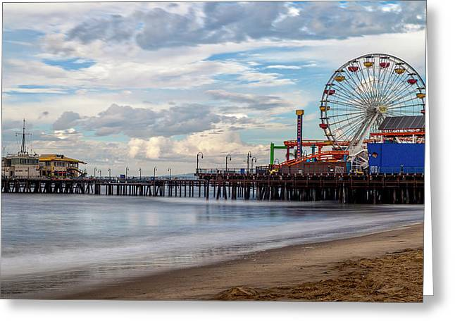 The Pier On A Cloudy Day Greeting Card