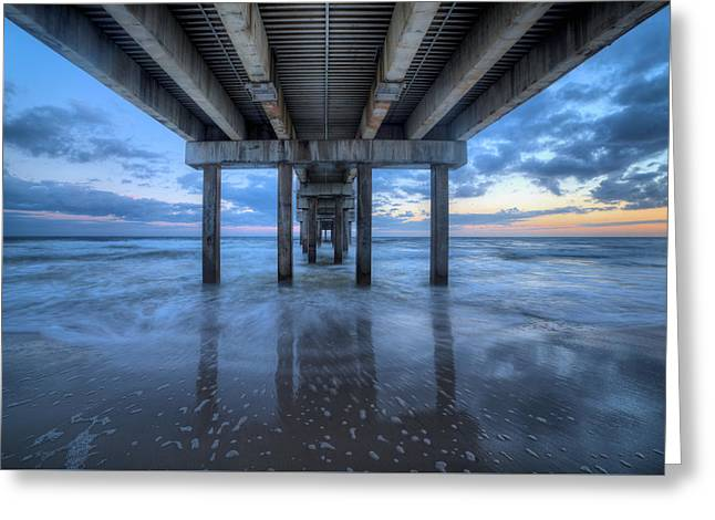 The Pier On Orange Beach Greeting Card by JC Findley