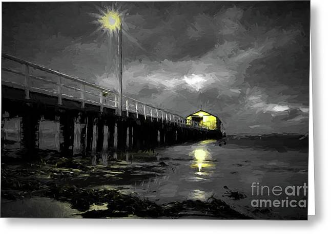 The Pier On The Bay Greeting Card