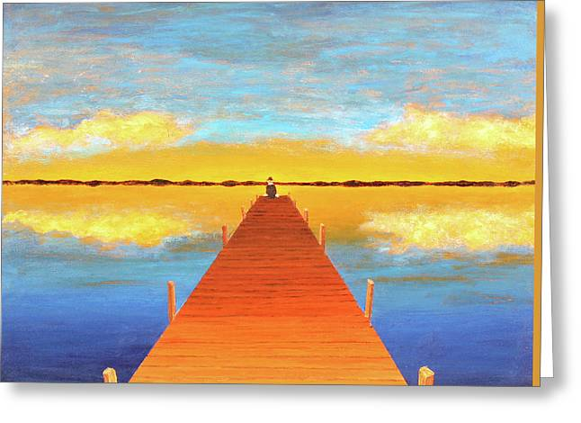 The Pier Greeting Card by Thomas Blood