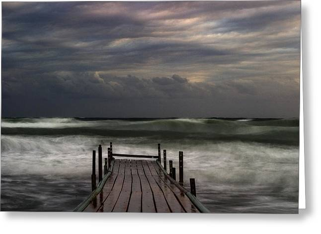 The Pier...ayia Napa Greeting Card by Stelios Kleanthous