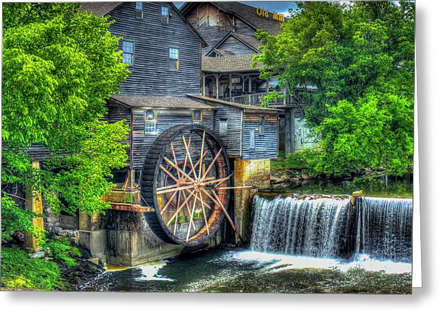 The Pigeon Forge Mill Old Mill Art Greeting Card by Reid Callaway