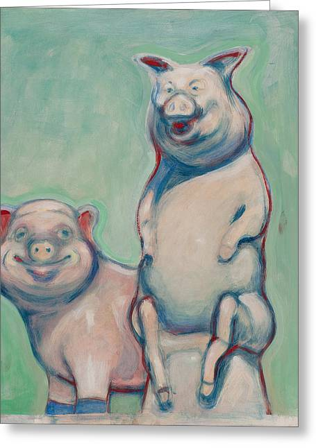 The Pigs Greeting Card