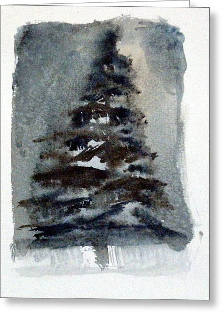 The Pine Tree Greeting Card by Mindy Newman
