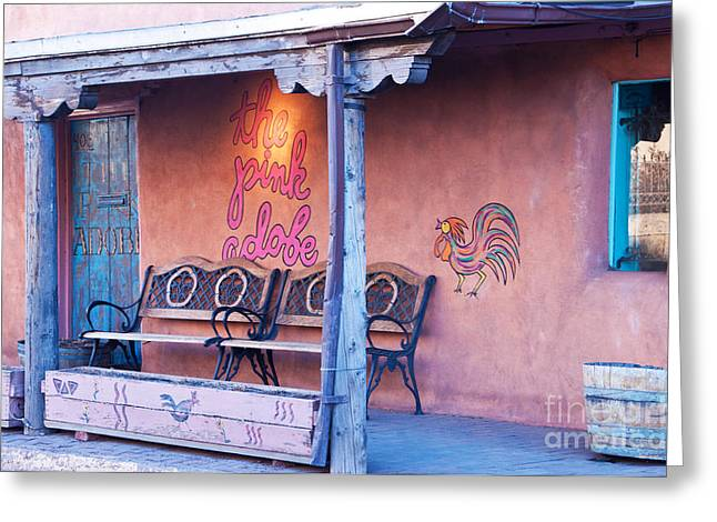 The Pink Adobe Greeting Card by Bob and Nancy Kendrick