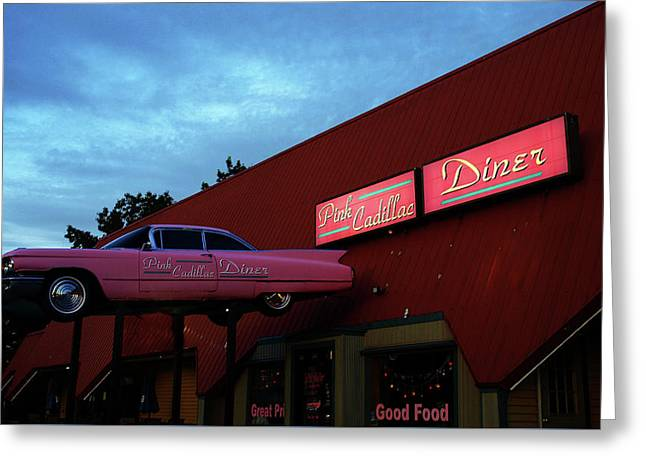 The Pink Cadillac Diner Greeting Card