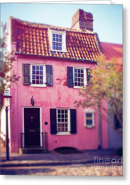 The Pink House Charleston Greeting Card